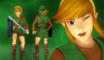 Classic Link - Hyrule Warriors (MMD Render Test)