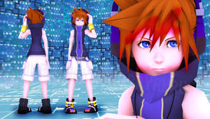 Neku (fan's custom) - TWEWY (VIDRO Render Test) by Jakkaeront