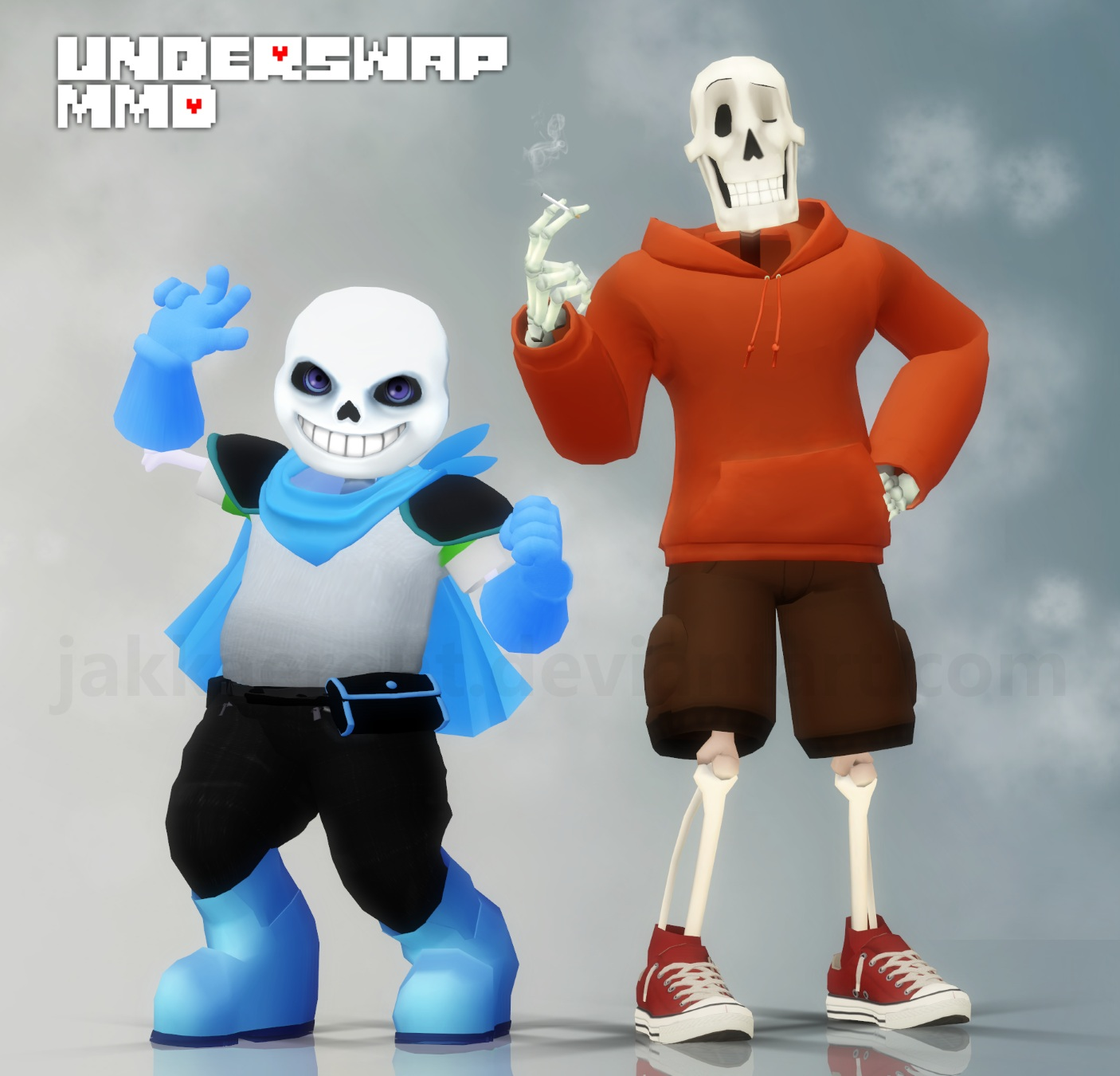 How to install sans undertale skin download sans undertale skin -  Undertale Au 3 Underswap Mmd Sans N Papyrus By Jakkaeront