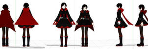 RWBY.Ruby - Comparison - Fan Custom and Official by Jakkaeront