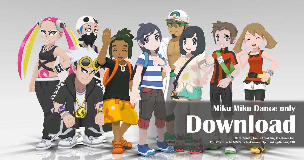 MMD Pokemon 2016 Pack1 DL by Jakkaeront
