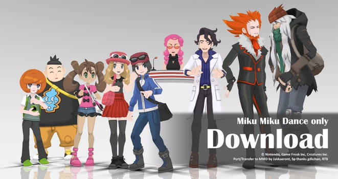 MMD Pokemon 2016 Pack3 DL by Jakkaeront