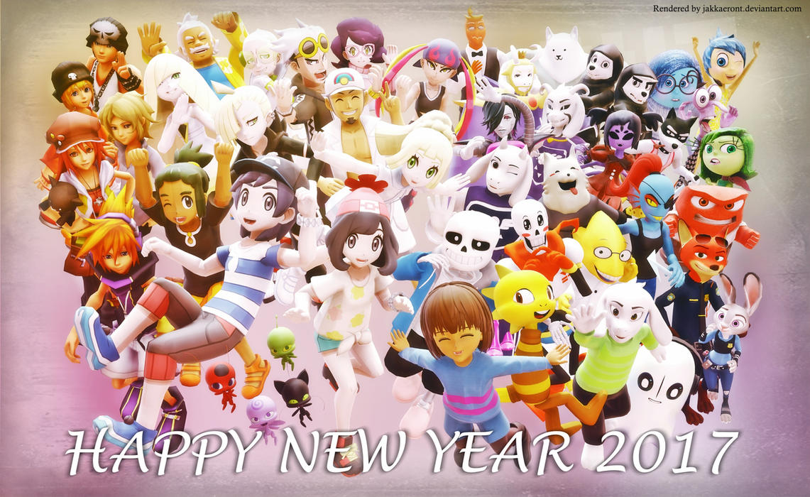 MMD - HAPPY NEW YEAR 2017 by Jakkaeront