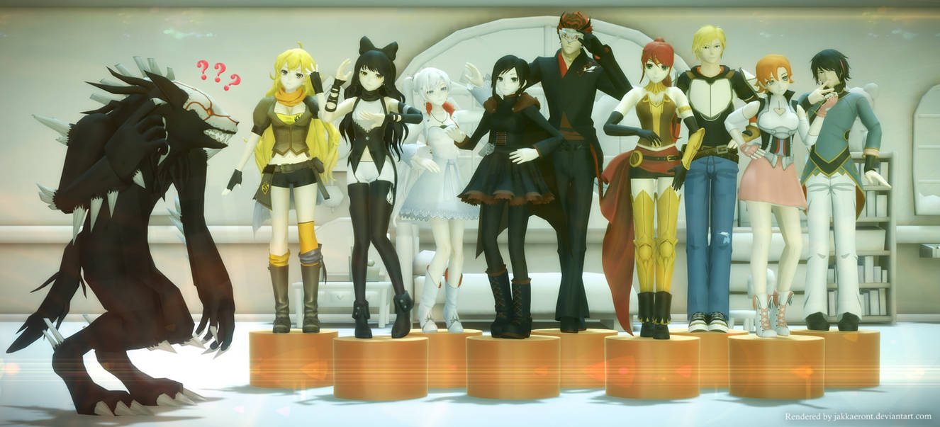 RWBY doing Gee Mannequin
