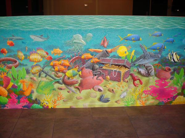 Under sea mural by muralsbylebold on deviantart for Mural under the sea