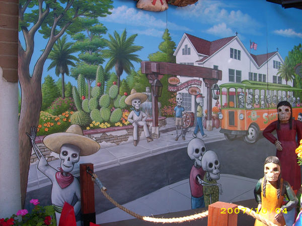 Day of the Dead mural by MuralsbyLeBold