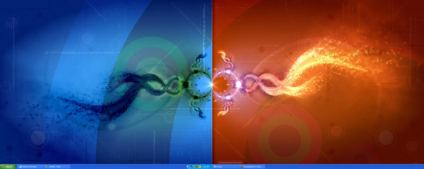 Dual monitor :D by Oddysee85