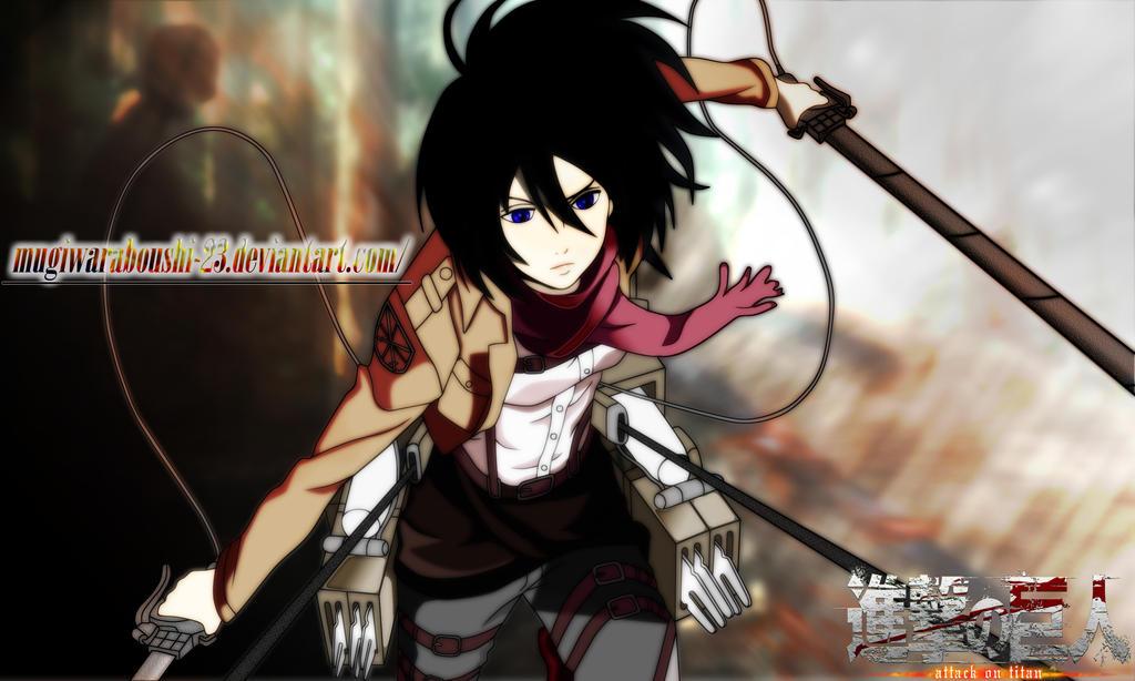Mikasa ackerman attack on titan by thephantomslegend on deviantart mikasa ackerman attack on titan by thephantomslegend voltagebd Images