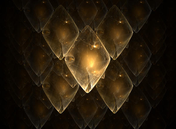 Golden dragon scales