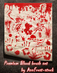 PREMIUM Blood brush set by AnnFrost-stock