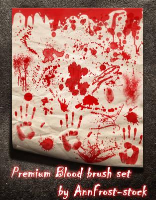 PREMIUM Blood brush set by AnnFrost-stock