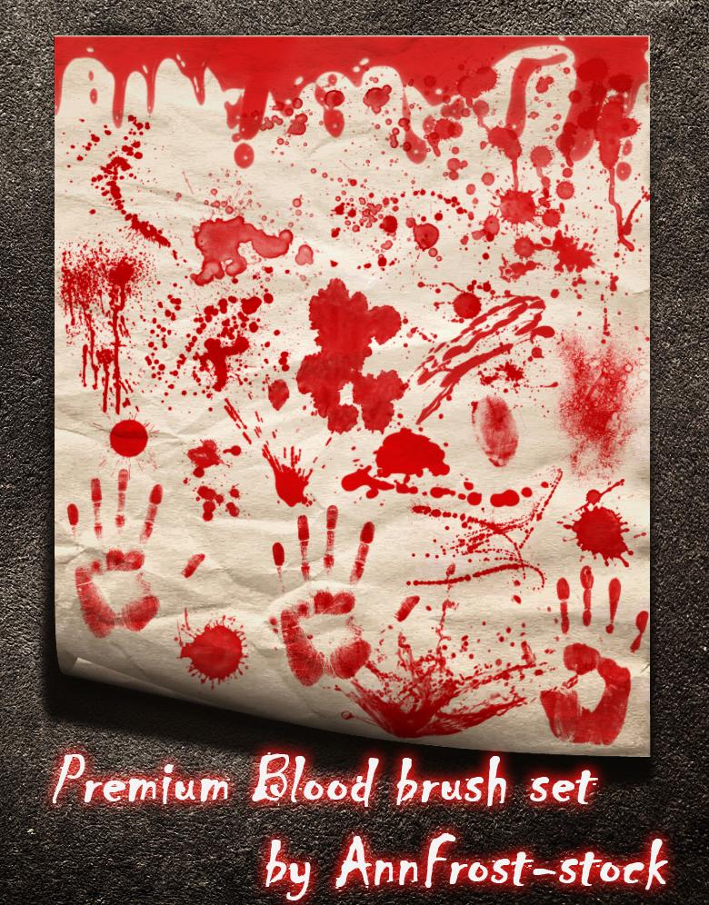 PREMIUM Blood brush set