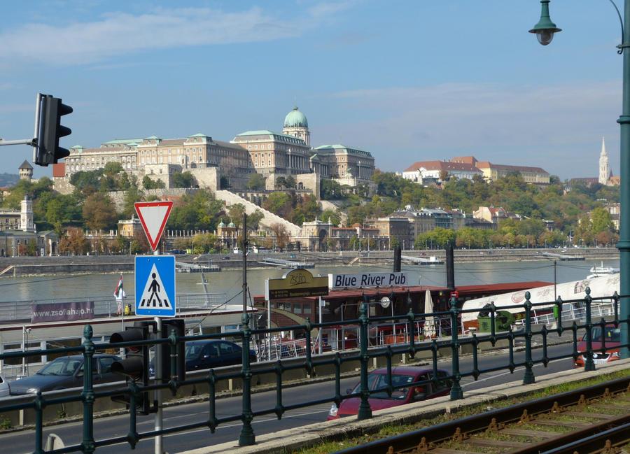 Buda castle from Pest by setanta5