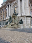 Monument at Buda Castle, different angle