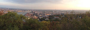 Budapest panorama from the Citadella by setanta5