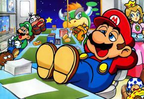 Mario Bros in work by Freakazoid999