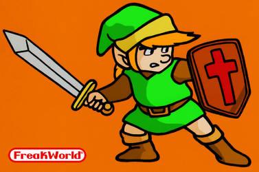 Real Link in first Legend of Zelda by Freakazoid999