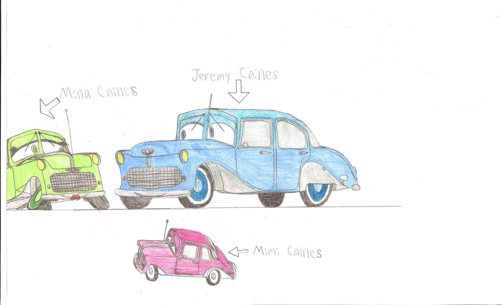 The Caines Family, Disney's Cars Version by britishman1940