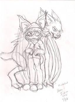 Monsterkind Haru and Ichiro chibi sketch