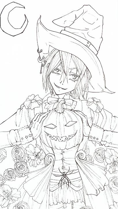 Line Art Halloween : Happy halloween lineart by rein yagami on deviantart