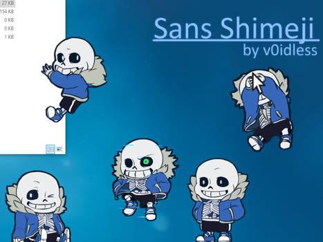 Sans Shimeji