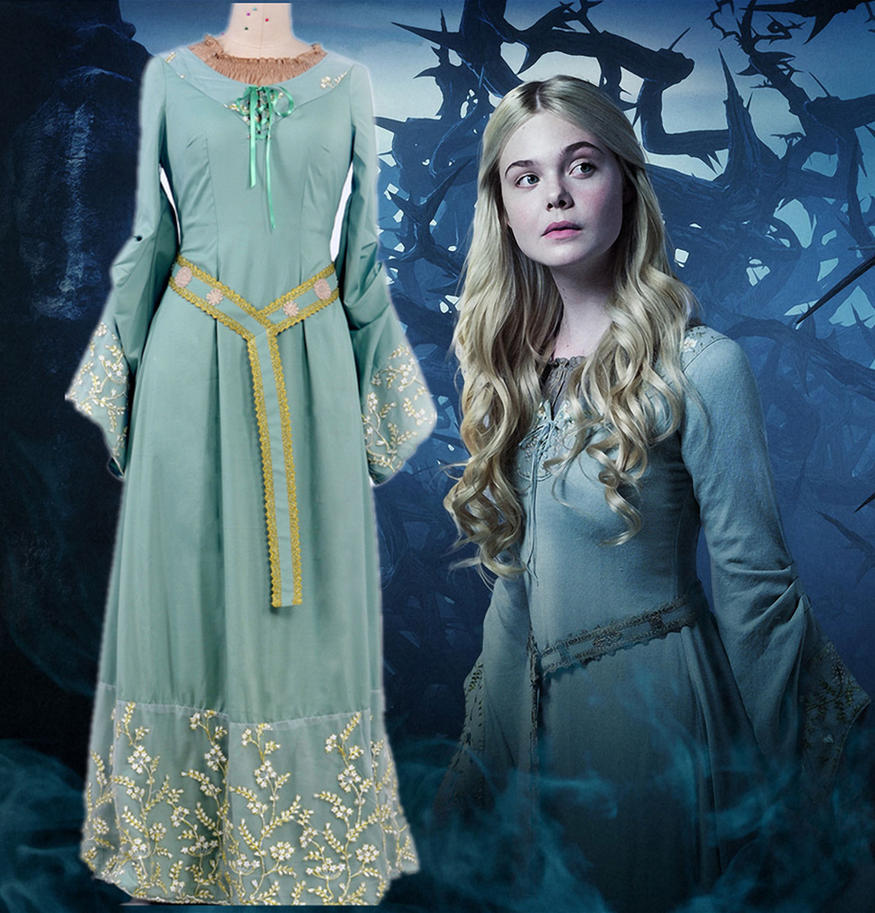 Maleficent Cosplay Princess Aurora Dress Costumes by ...