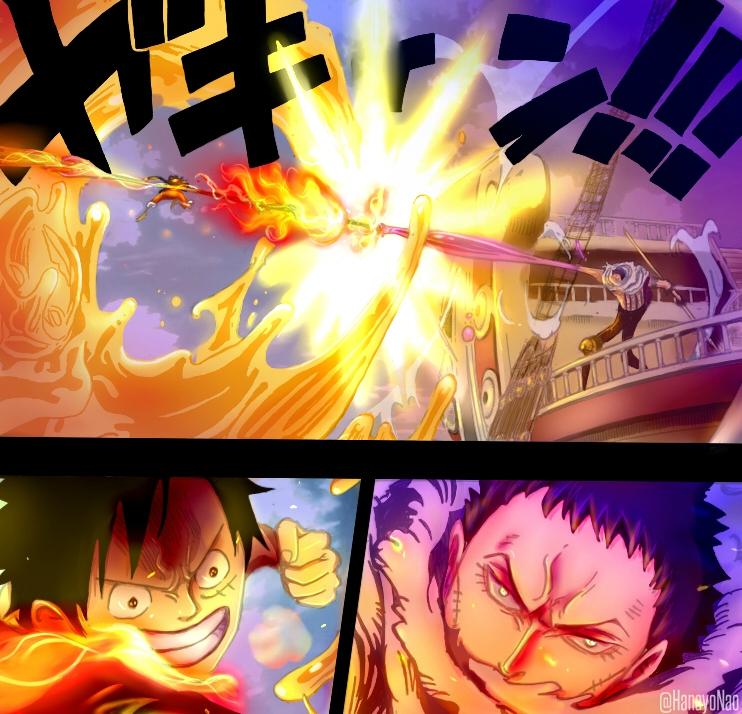 One Piece 877 Luffy Vs Katakuri Color Version By Hanayo