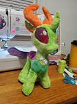 Thorax plush commission by CleverPorcupine