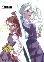 [Render] Diana and Akko | Little Witch Academia by DakuDesigner
