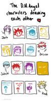 D.N.Angel characters drawing