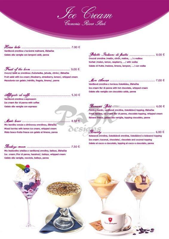 Ice Cream Menu Design Ice Cream menu design by