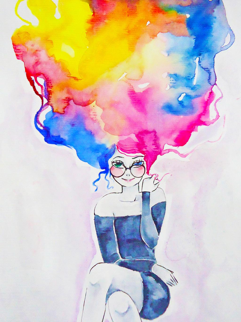 Hair Like Watercolour By Raposa7 On Deviantart