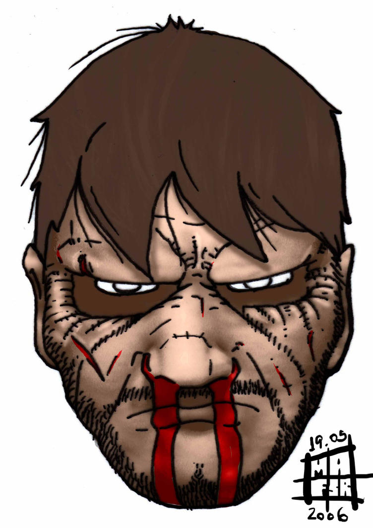 Doom head 25 per cent health by vicariousmonster