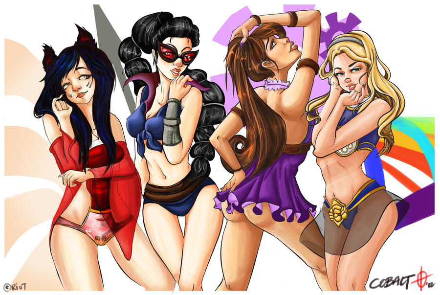 League of Legends: Beach Party by neecobalt