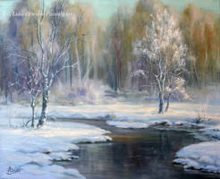 Winter landscape snow by Lidmar