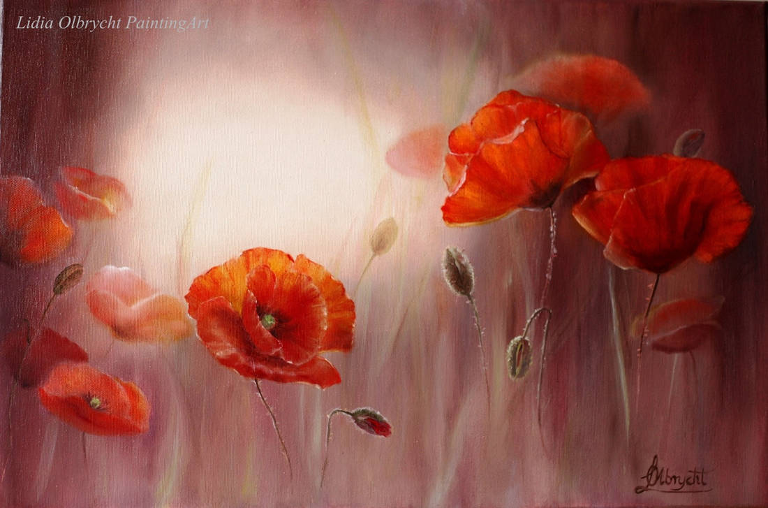 Light and red poppies by Lidmar