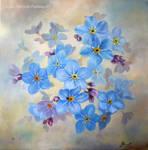 Niezapominajki/ Forget-me-not flowers