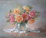 Roses/ oilpainting