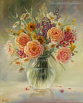 Summer Bouquet/ oil painting