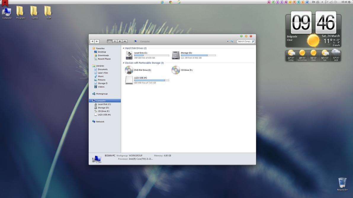 Windows 7 like mac by LazyLaza