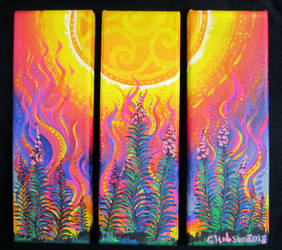 Fireweed Fire Triptych