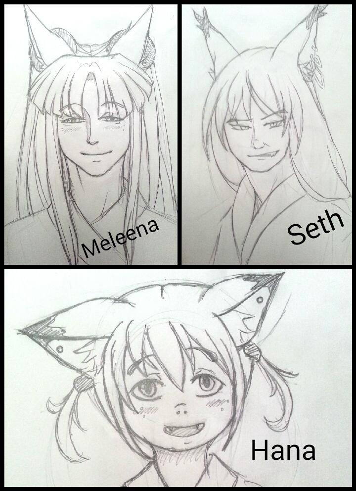 Random Story - Fox Demon Family by WhiteRiceLover