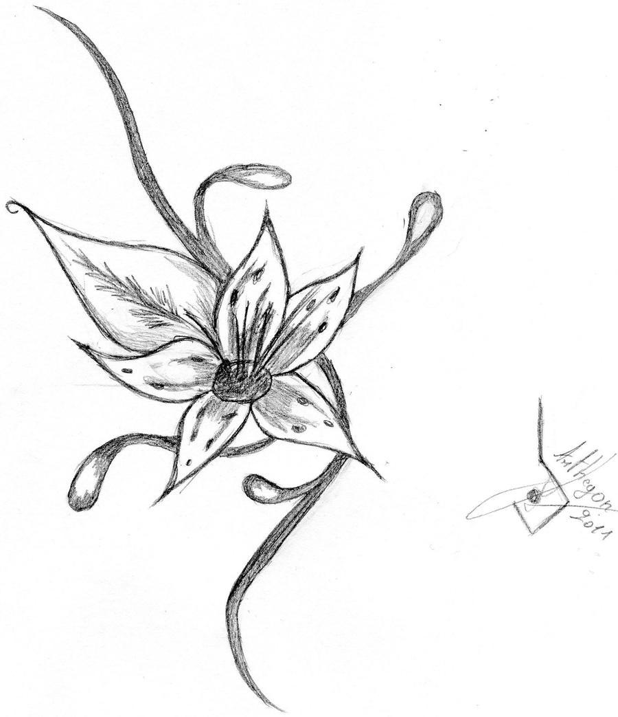 Fleur tattoo by arthegon on deviantart - Fleur tatouage dessin ...