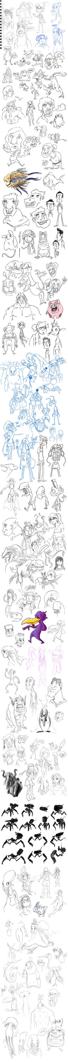 Semester 02 2012 Sketch Dump by chowgood