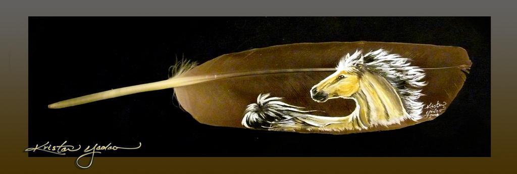 White Wind - Feather Painting by dittin03