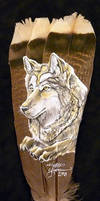 Golden Wolf - Feather
