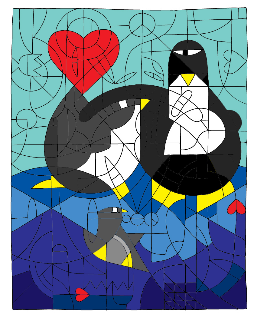 Penguin Love by dittin03