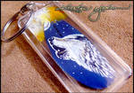 Feather Painting Keychain 40