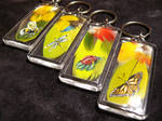 Feather Keychains - Bugs