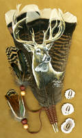 Whitetail Buck Feather by dittin03